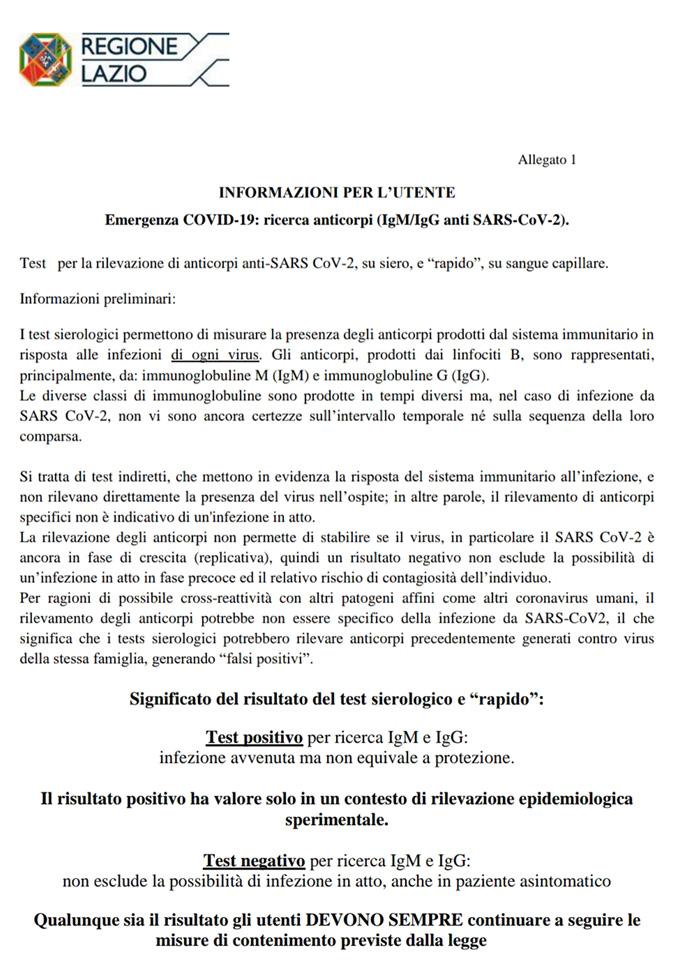 Test Sierologico Covid-19: Approfondimenti normativi ed Informativa